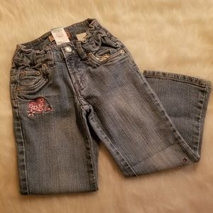Girls Sz 5 Levi's Jeans Butterfly Patched
